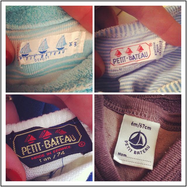 étiquettes petit bateau