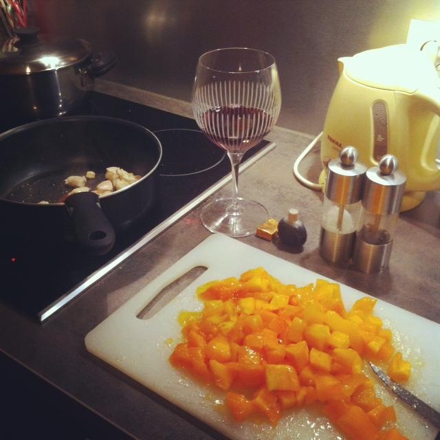 préparation poulet kaki