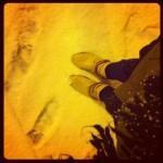 balade sous la neige seule