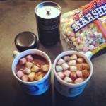 chocolat marshmallows