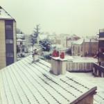 se réveiller sous la neige