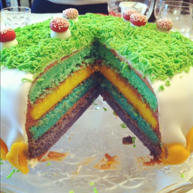 gâteau ouvert