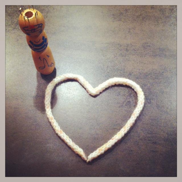 coeur en tricotin
