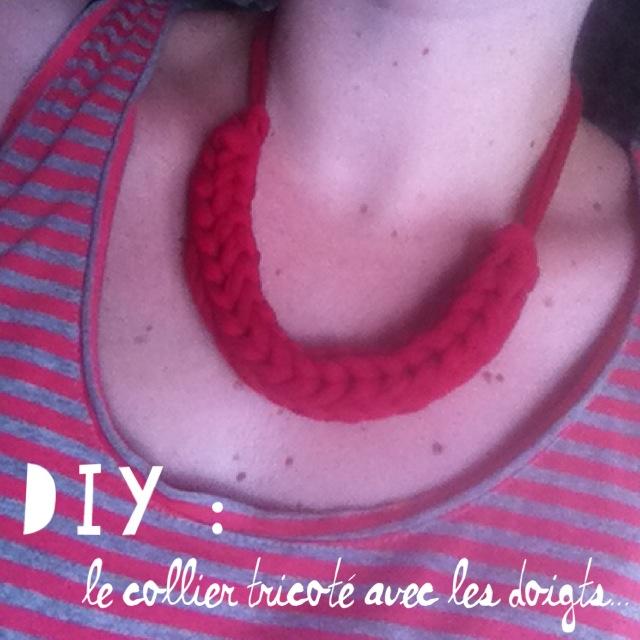 DIY Le collier tricoté avec les doigts
