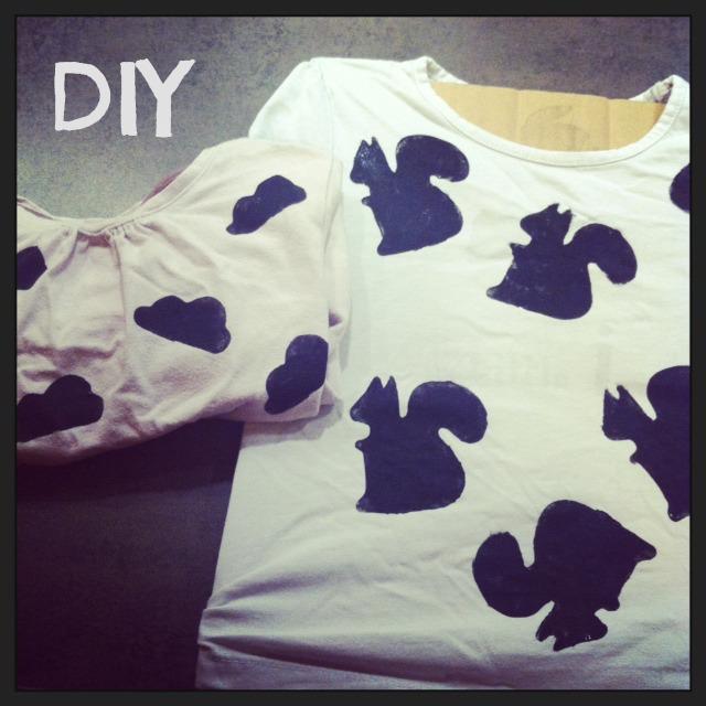 DIY Peinture textile emporte pièce une