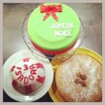 gâteaux noël et anniversaire