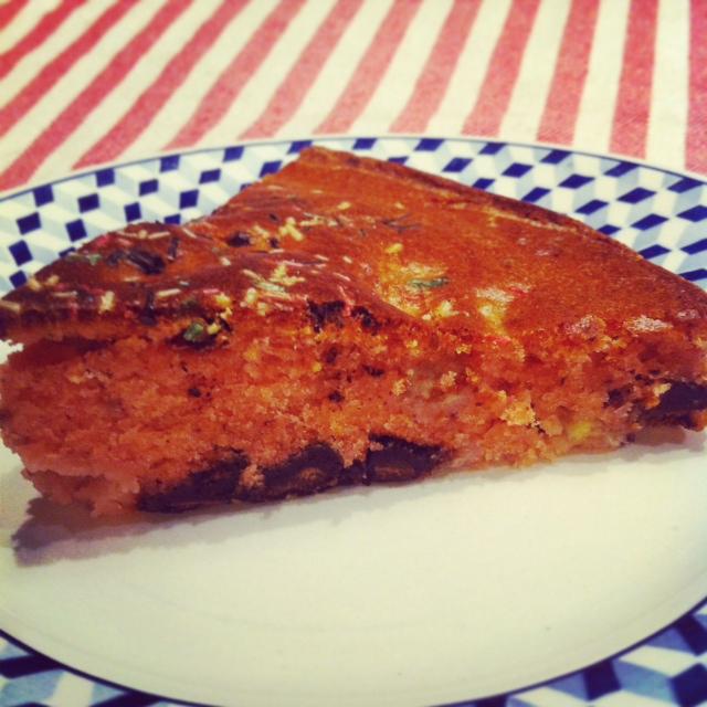 gâteau banane choco amande