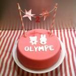 gâteau Olympe 2 ans