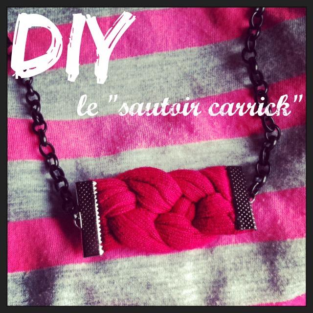 1ère image - DIY Sautoir noeud marin  carrick