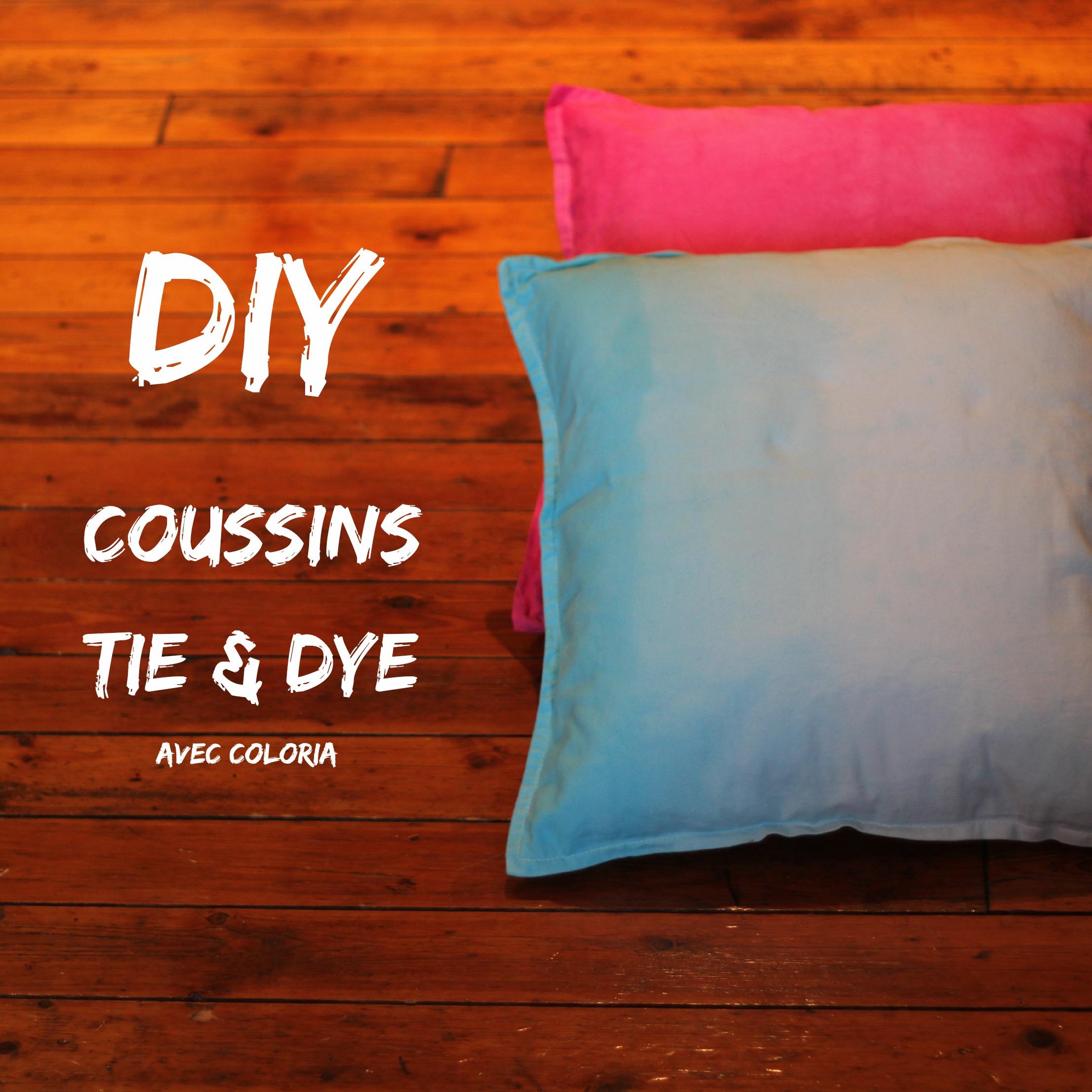 diy les coussins tie and dye avec coloria la reine de l 39 iode. Black Bedroom Furniture Sets. Home Design Ideas