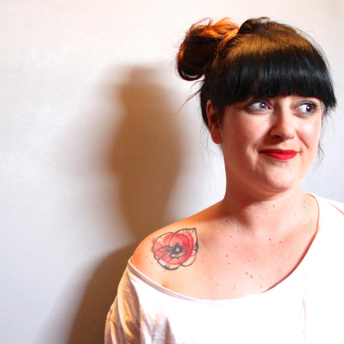 portrait de tatouée la reine de l'iode