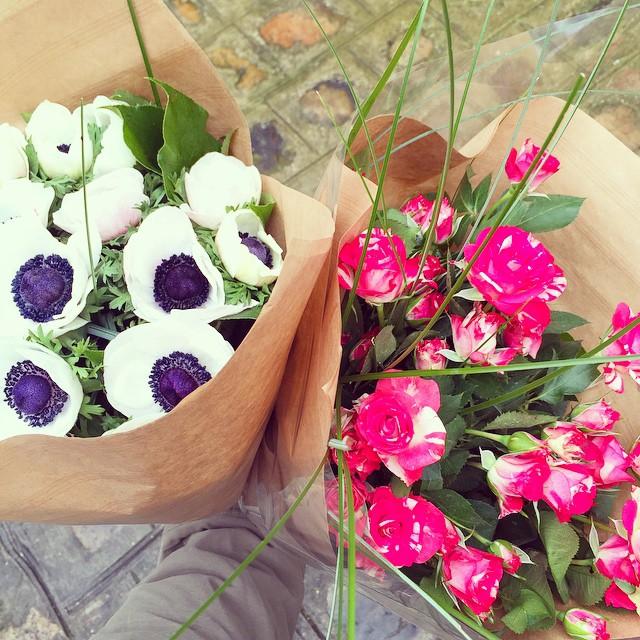 Les bouquets du samedi... Aujourd'hui des anémones pour la maison…