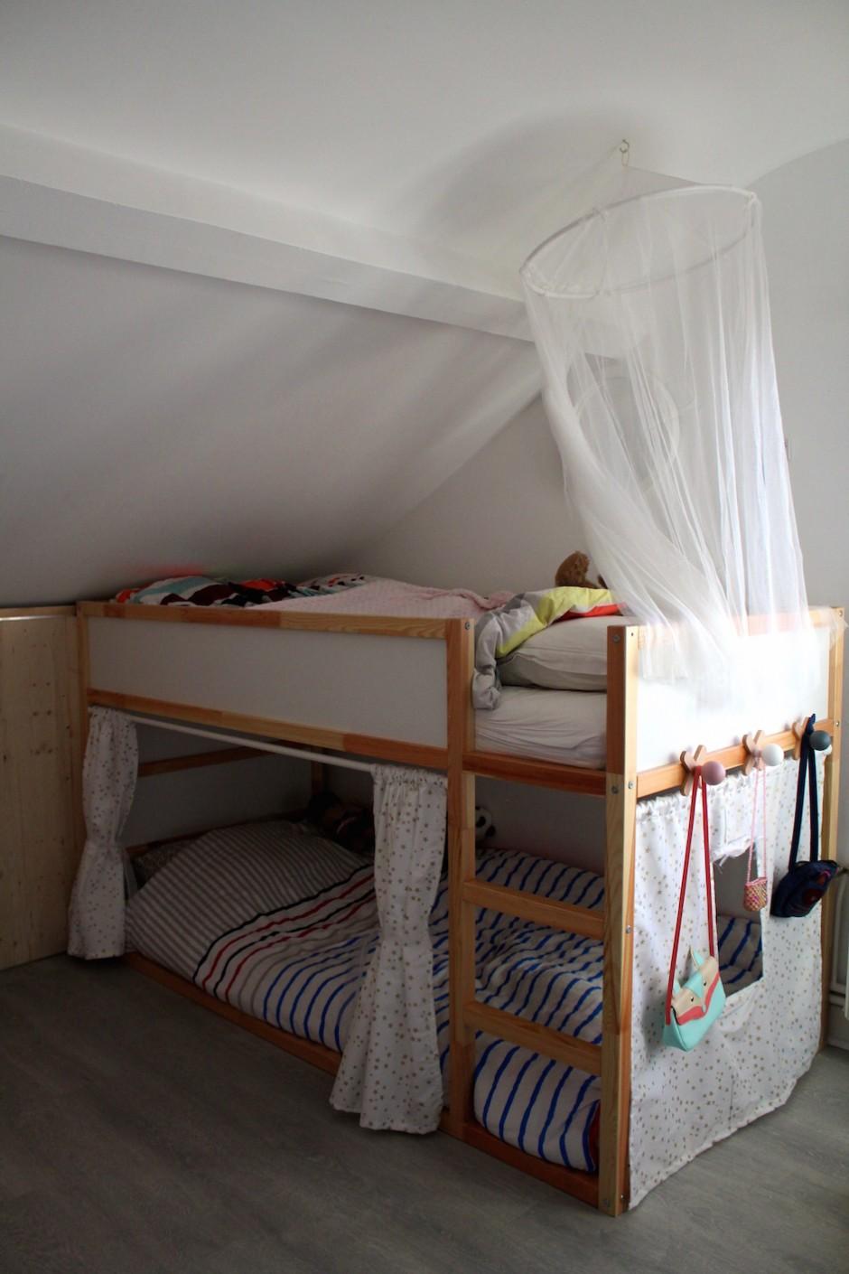 Lit Superposé Sous Pente le lit cabane de princesses [diy] - la reine de l'iodela